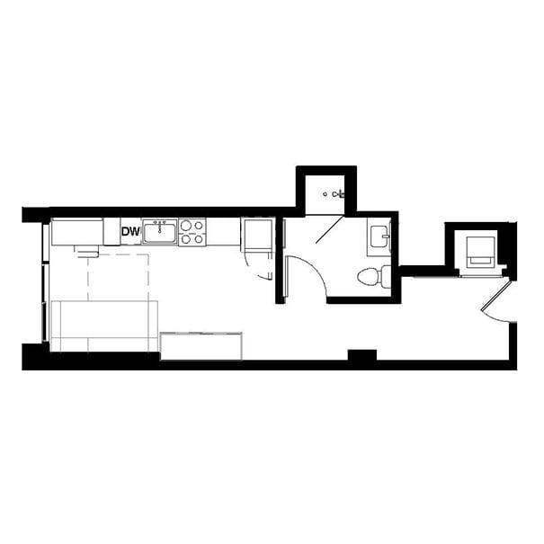 Rendering for Murphy Convertible floor plan