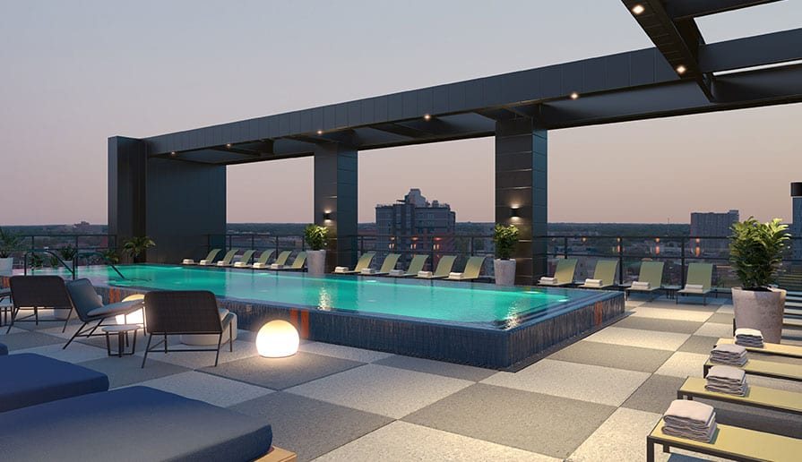 Rooftop Sundeck with Pool