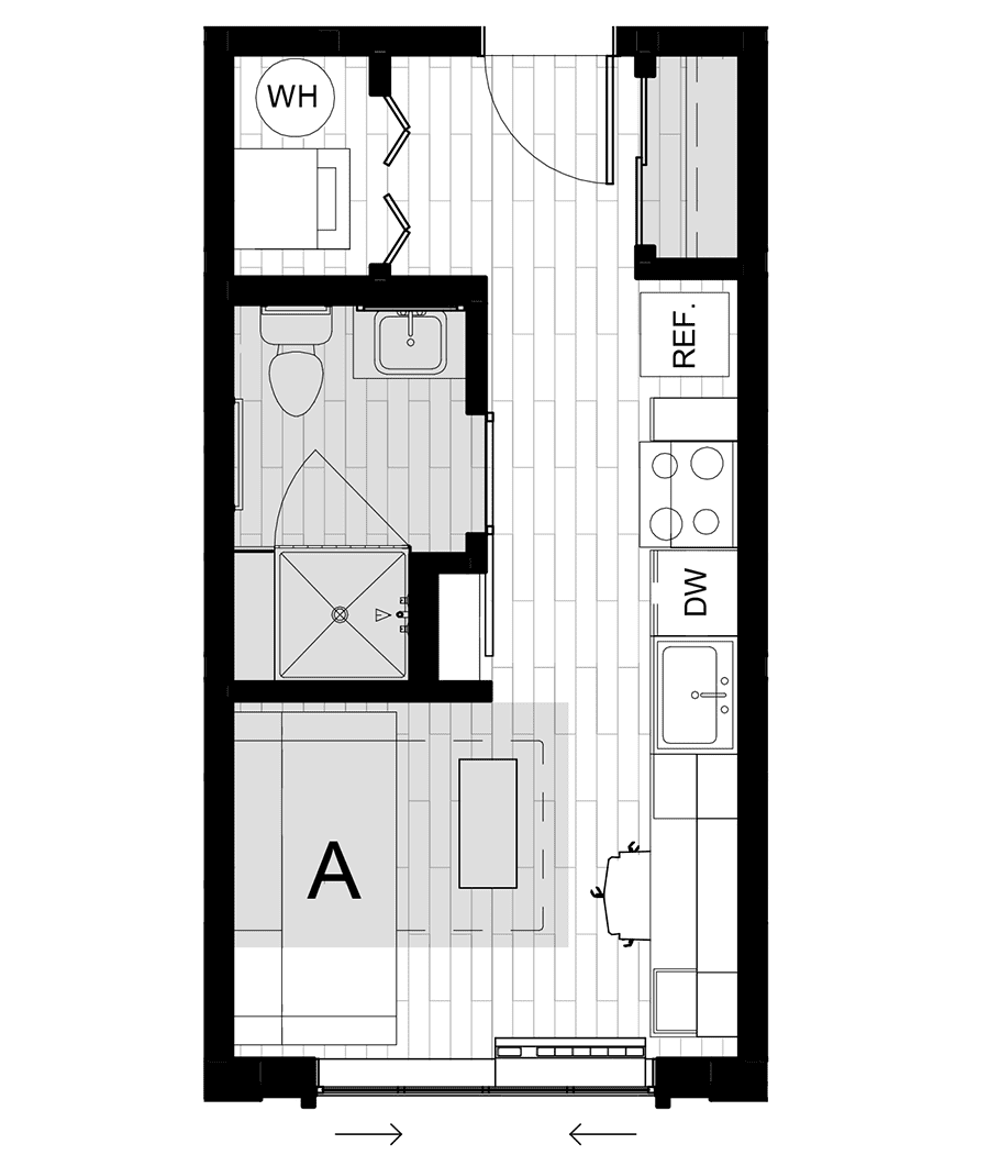 Rendering for Murphy floor plan