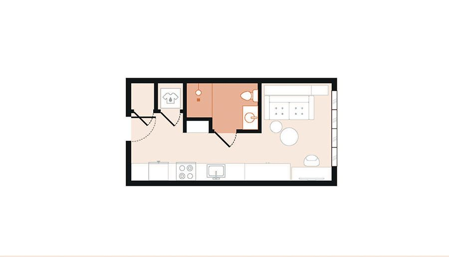 Rendering for Murphy floor plan