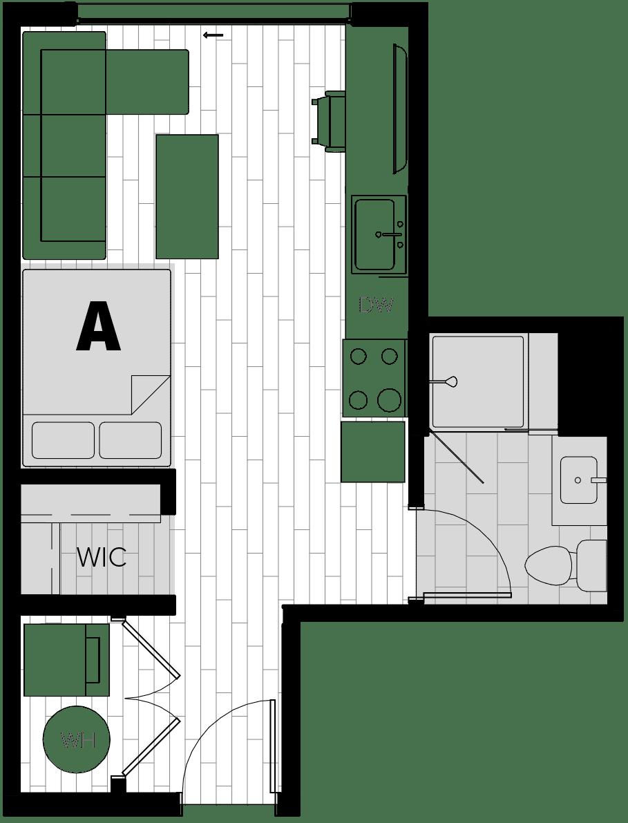 Rendering for Studio floor plan