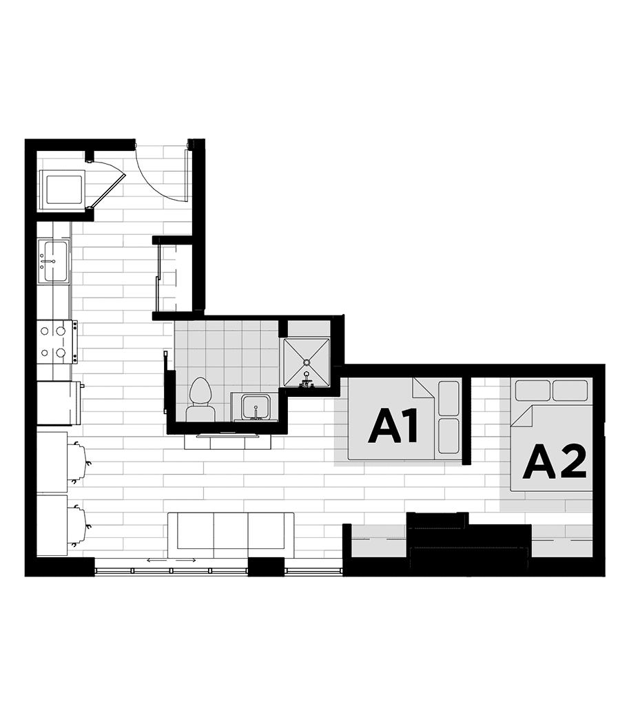 Rendering for Studio - DO floor plan